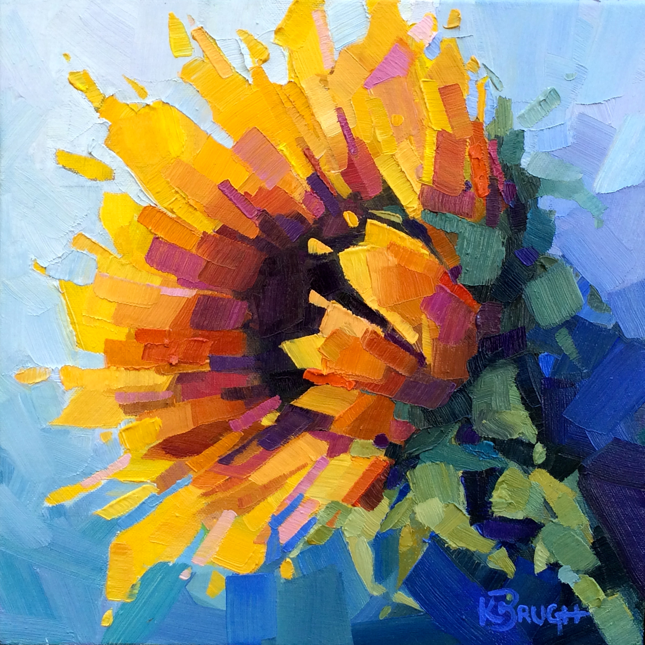 A Sunny Delight by Kelley Brugh 12x12, Oil on canvas