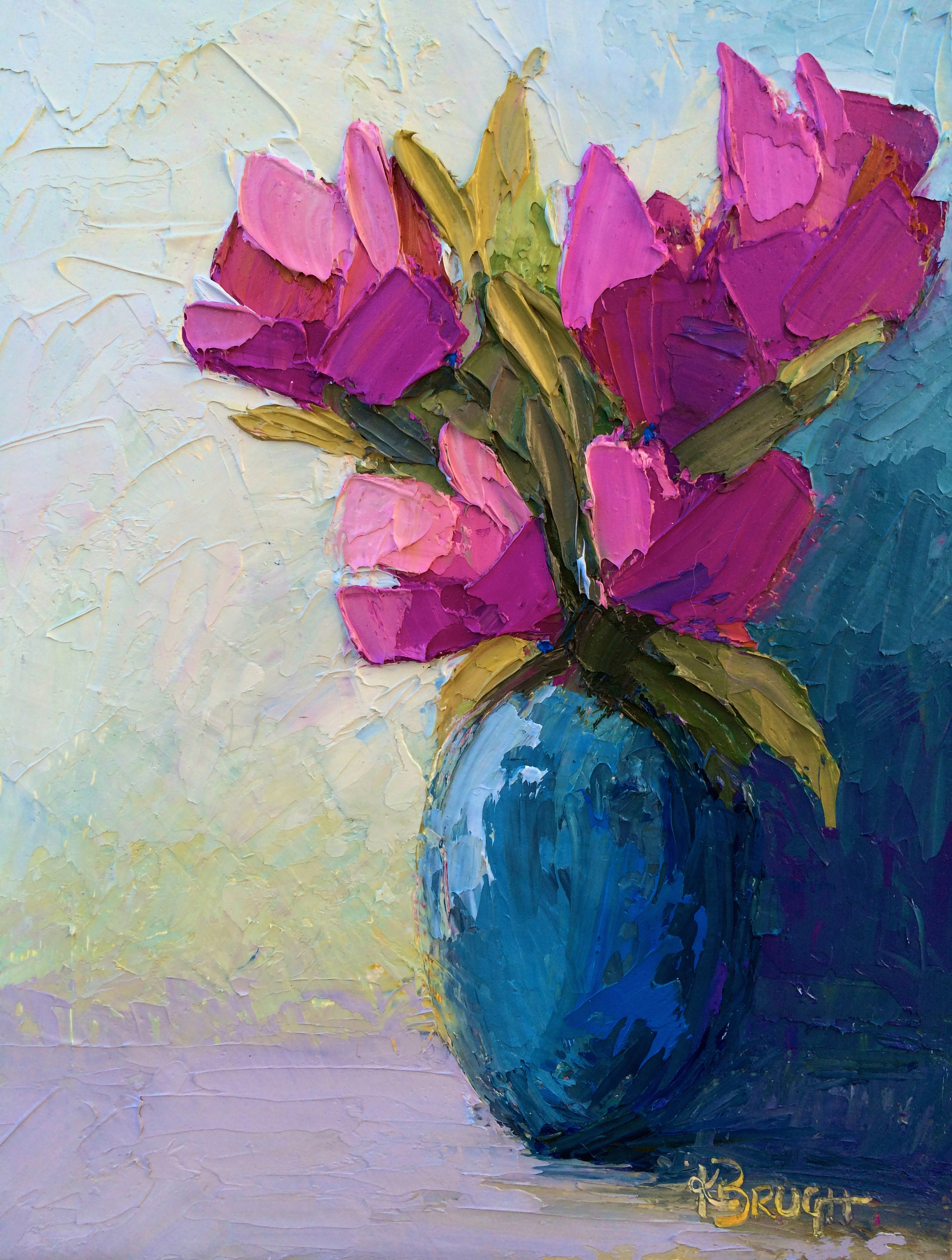 Spring Pink by Kelley Brugh 11x14, Oil on canvas SOLD