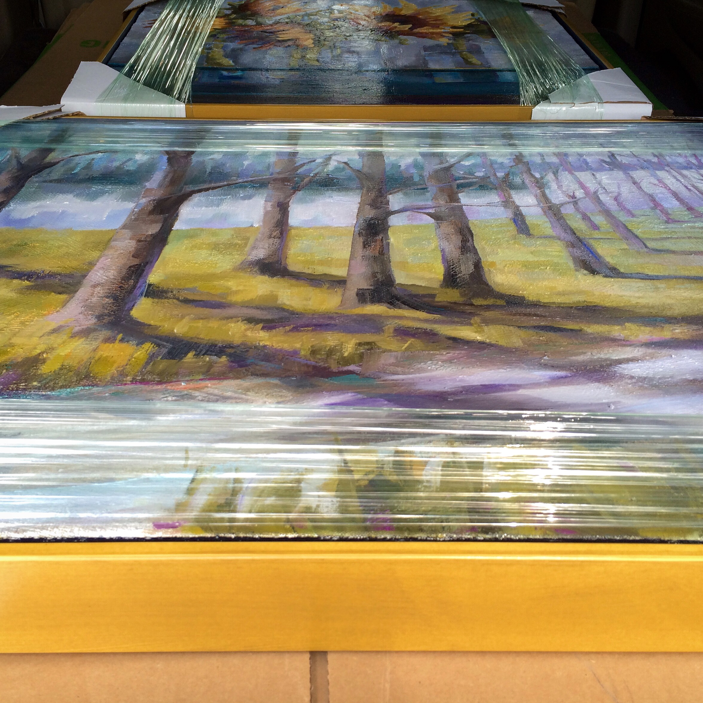New artwork all packed up and headed to Shain Gallery! #kelleybrughfineart #shaingallery