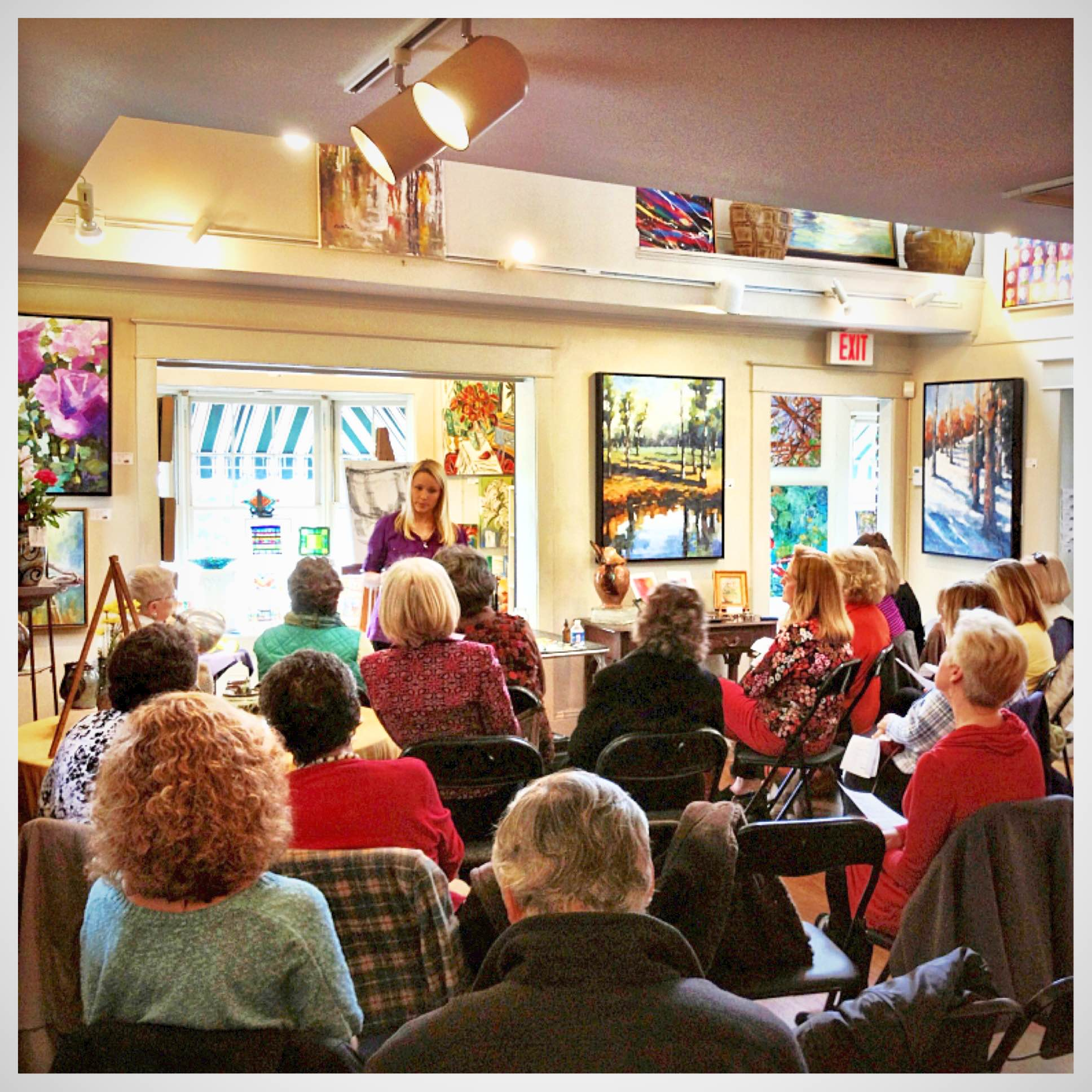 Snapshot from former Lunch& Learn featuring  Kelley Brugh at  Tyler White O'Brien Gallery on February8, 2013