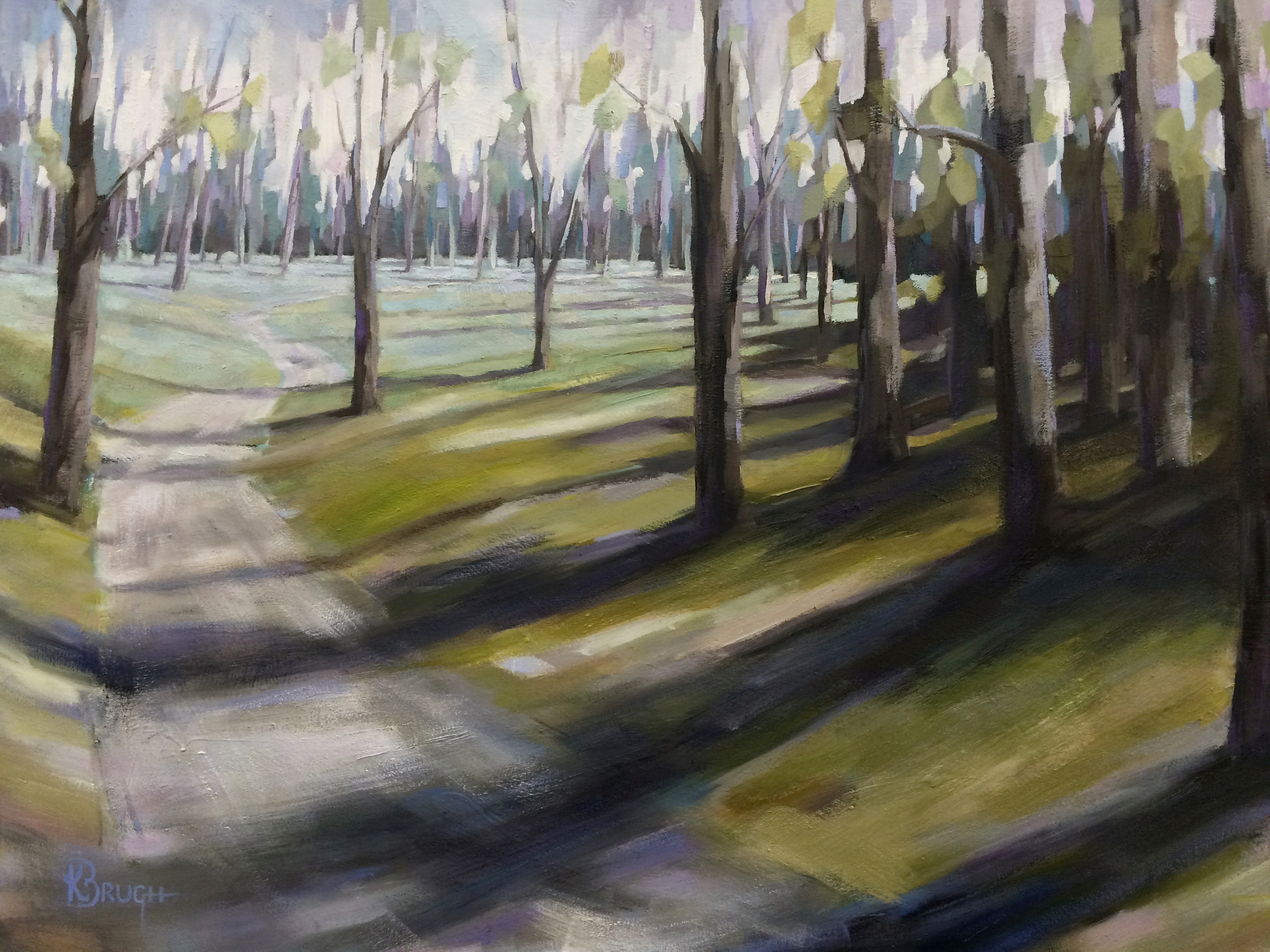 Meandering Through the Woods by Kelley Brugh_36x48, Oil on canvas.jpg