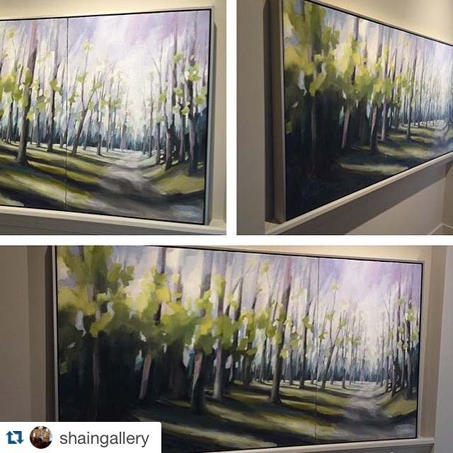 So happy to have this new big painting of mine @shaingallery! ・・・ Thank you to Kelley Brugh for dropping off this beauty! 36x72. Absolutely perfect from all angles. @kelleybrughfineart #kelleybrugh #shaingallery #charlotteartRepost @shaingallery