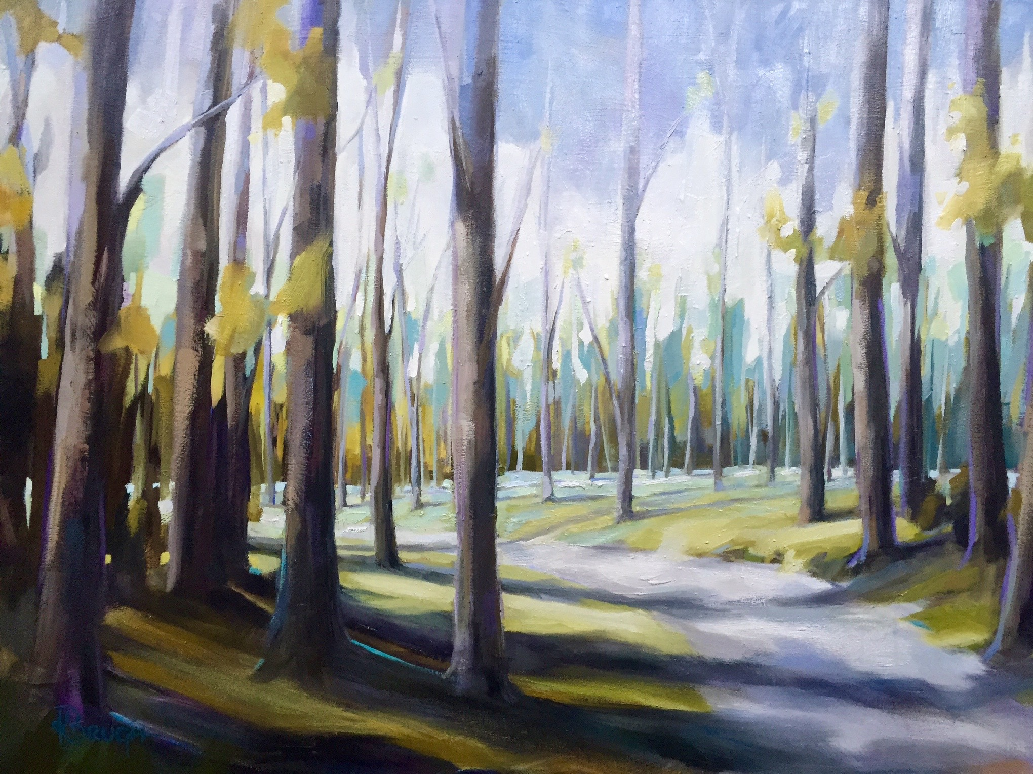 Wilderness Trail by Kelley Brugh 36x48, Oil on canvas  SOLD
