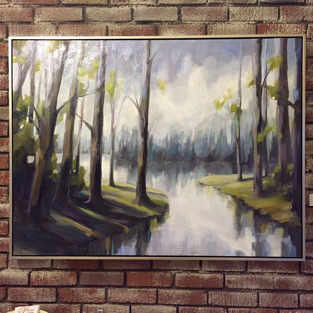 Thanks for a great turn out at my Lunch & Learn and the Opening Reception on Friday, May 15! Details & photos are #ontheblog #kelleybrughfineart #tylerwhiteobriengallery #artshow #interiordecor #landscape #oilpainting #lake