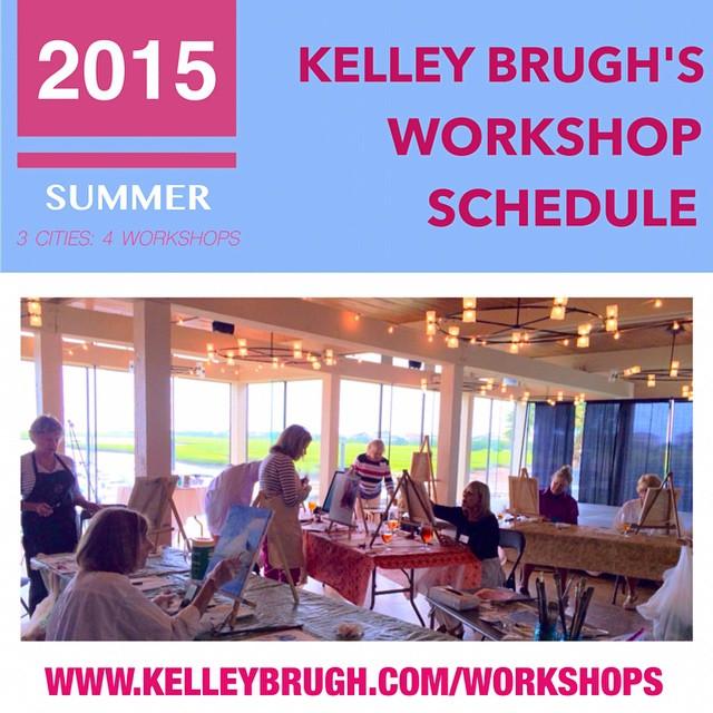 Check out my 2015 Summer Workshops at www.kelleybrugh.com! #kelleybrughfineart #artworkshops #figureeightisland #grandfathercountryclub #braitmanstudio #oilpainting