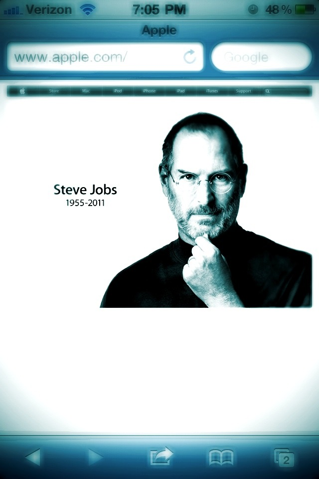Steve Jobs - former CEO of Apple - died today after a battle with Pancreatic Cancer. He is easily one of the most important people of the last 100 years. A true visionary.  He will be missed.  My prayers go out to his family.  RIP Steve.