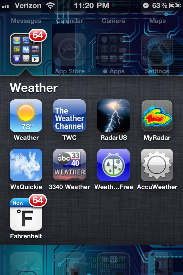 It uses Apples push notification badges to give you the current temp. Cant do negative temps (below 0° F), but hey - I live in Alabama! Worth the $0.99 to me...