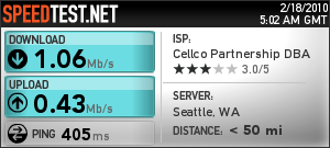 Another random Droid tethering speed test