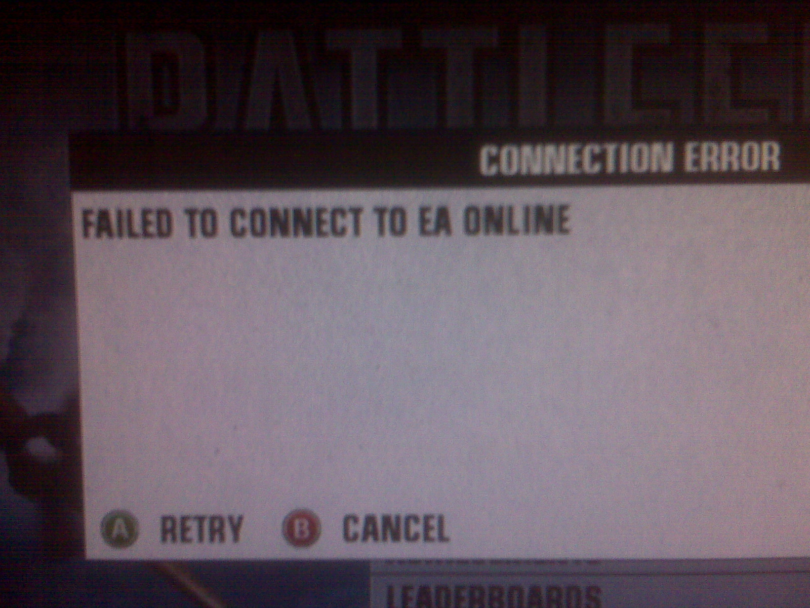 EA needs to get they're crap together and fix this. I'm sick of it. If I pay $15 for a game it darn-well better work!  -----   benpike    http://techsifter.com   -----  Sent from my Verizon Wireless BlackBerry  -----