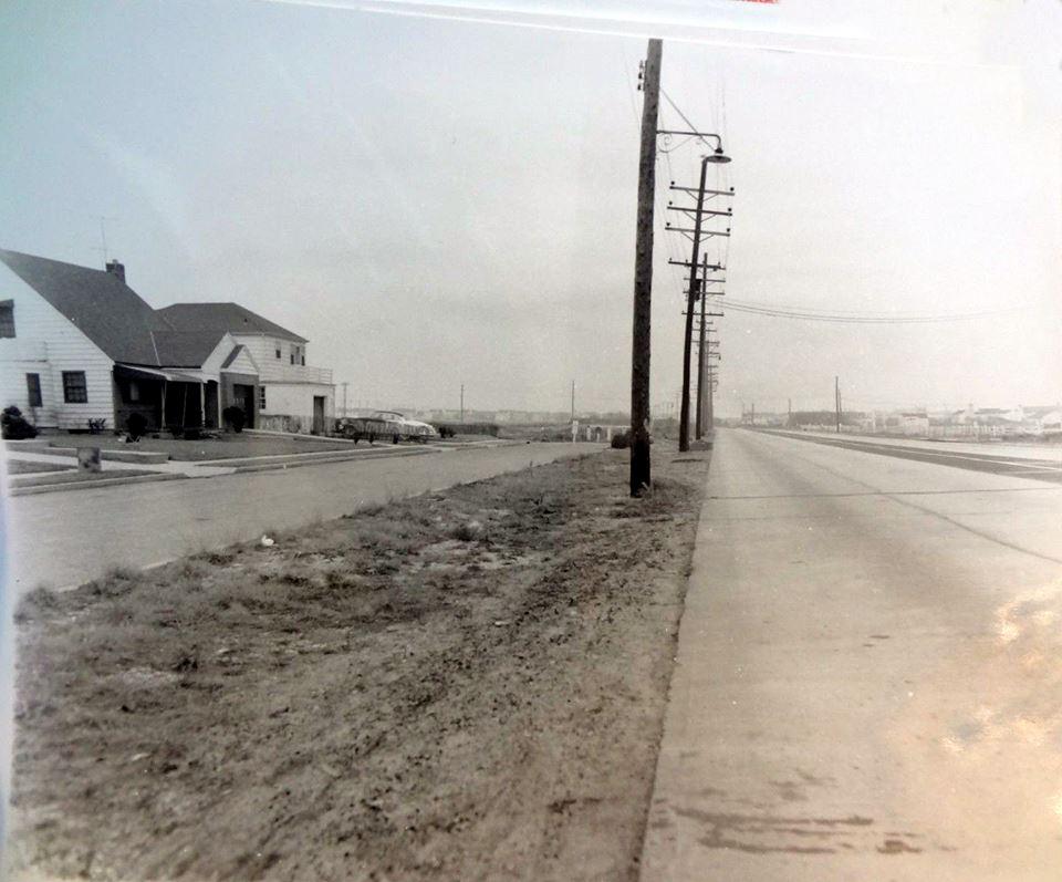 Atlantic Beach Marginal Rd Looking East to LB 1950