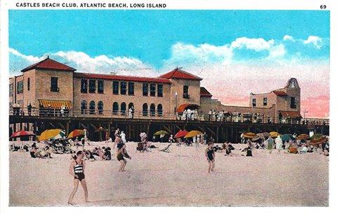 Post Cards Atlantic Beach Club Castles 1969