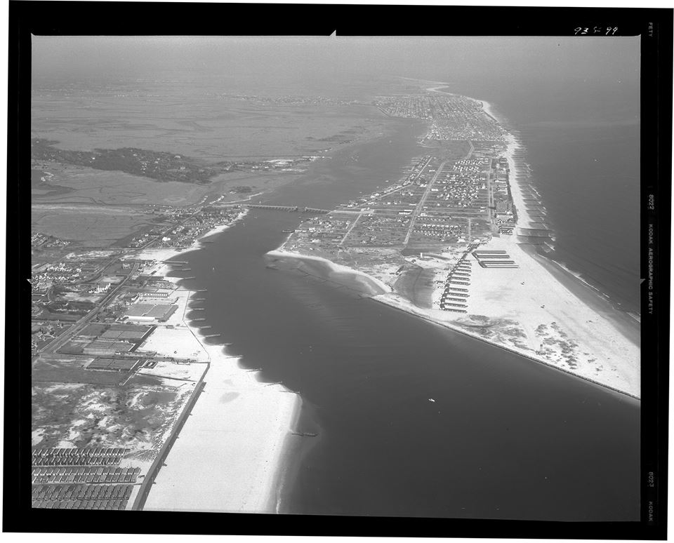 1946 East Rockaway Inlet and the old Atlantic Beach Bridge