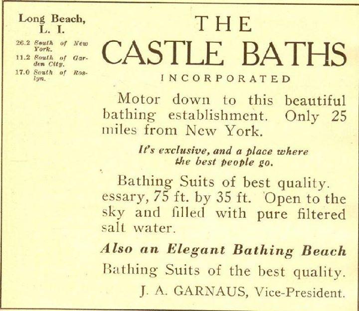 Castle Baths Ad