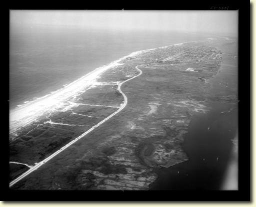 1951 Aerial Lido Beach Looking West