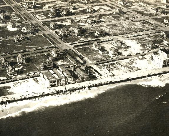1920 Beach Aerial Looking North