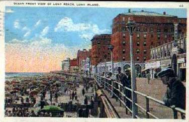 Looking East Color Post Card