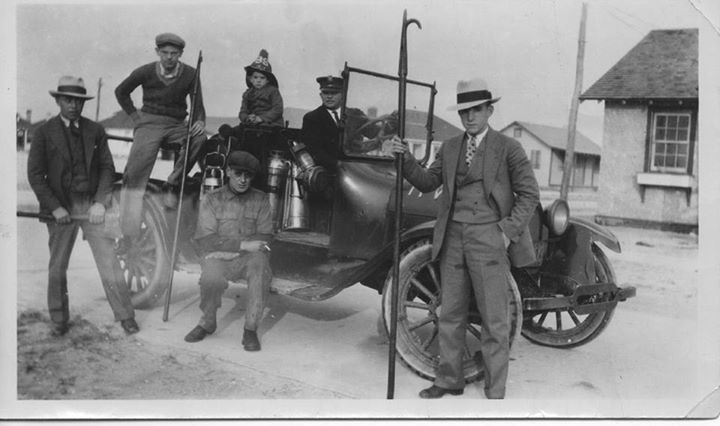 Island Park Fire Dept Dad, Victor Nittolo with fire hat, Philip Nitlow Driver 1926-27.jpg