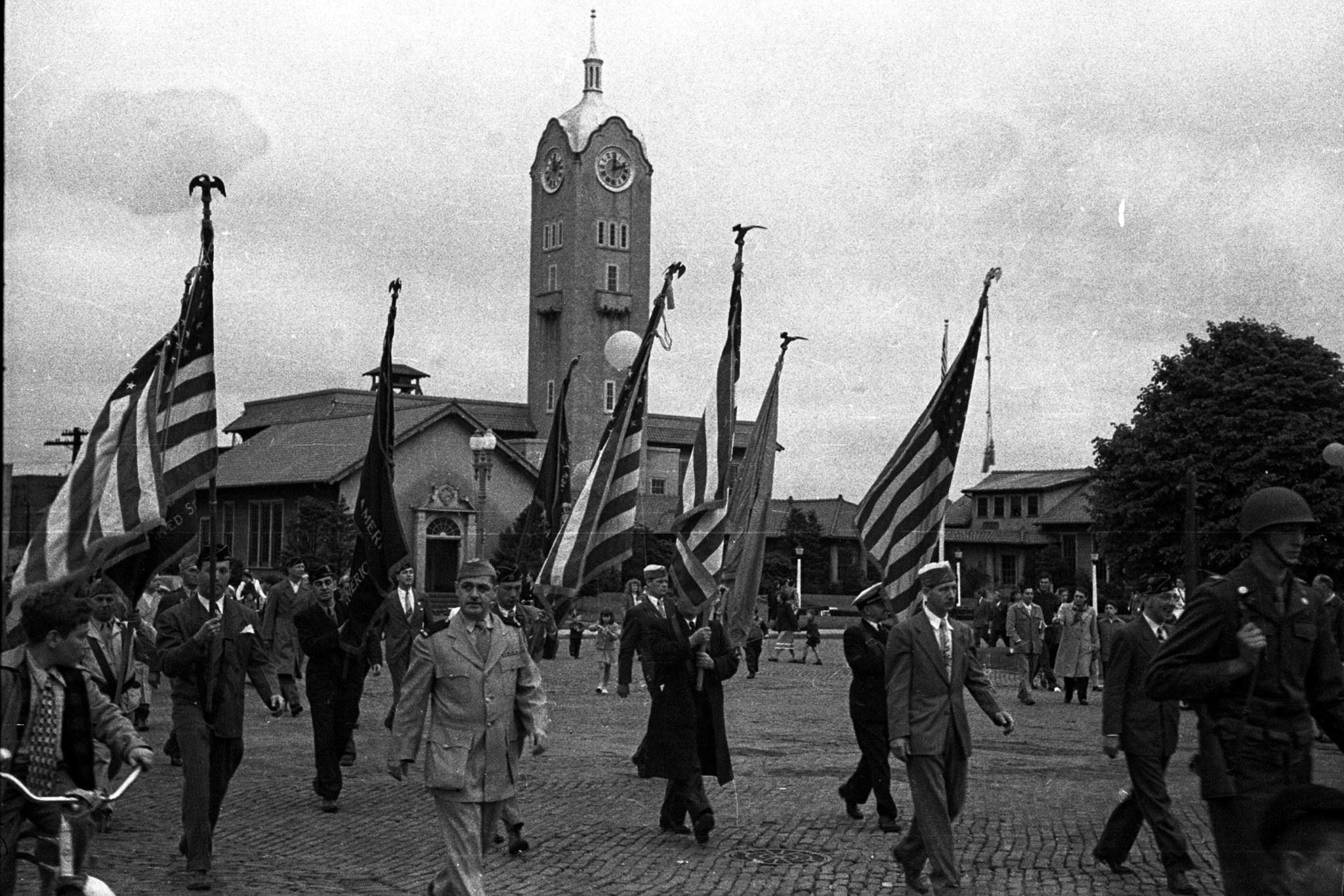 Long Beach City Hall  Old Clock Tower Memorial Day Parade.jpg