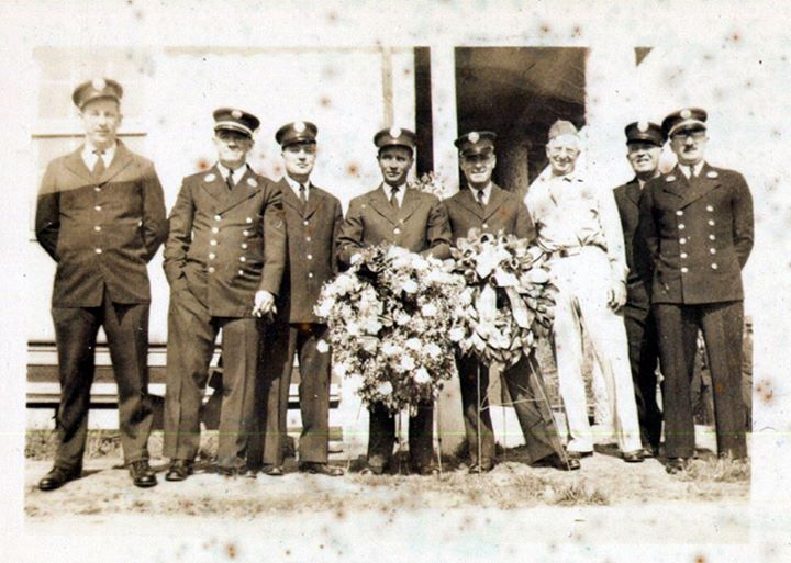Fire Dept 1944 Moe Bodenstein Jimmy Golden Ed Steffen Sr.jpg