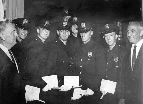 Nassau County Police Academy, May 6, 1966 Com Looney J. O'Brien D. Clancy A. Witman A. Vermylie A. Liguori LBPD Com Panza (2).jpg