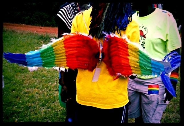Partidarios LGBT en la primera Celebracion de Orgullo en Uganda.