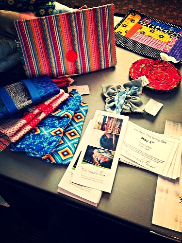 The ACC sponsors a refugee artisans' social enterprise,   We Made This  , and displayed the wares.