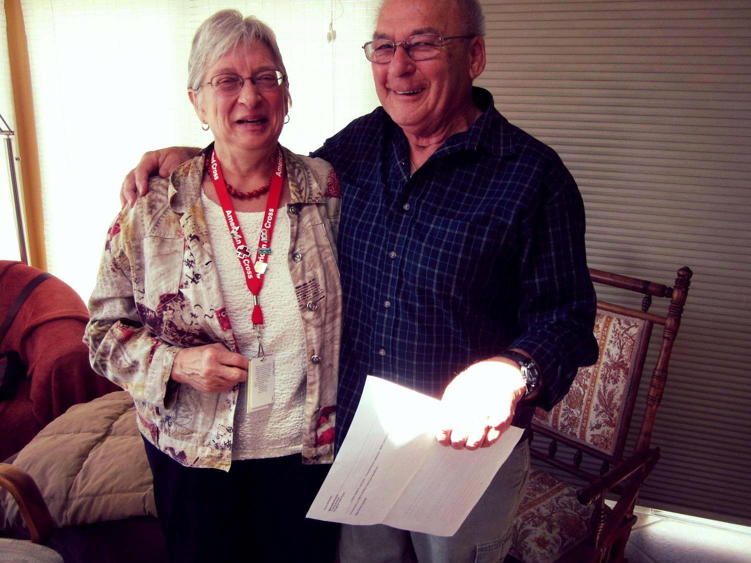 Robbe Sokolove, Restoring Family Links volunteer, and George Kantor reminisce about their first meeting.
