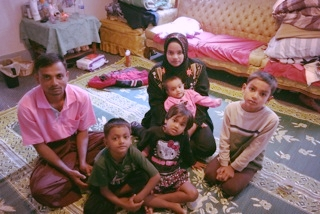 Sahasa with her family in Syracuse, New York