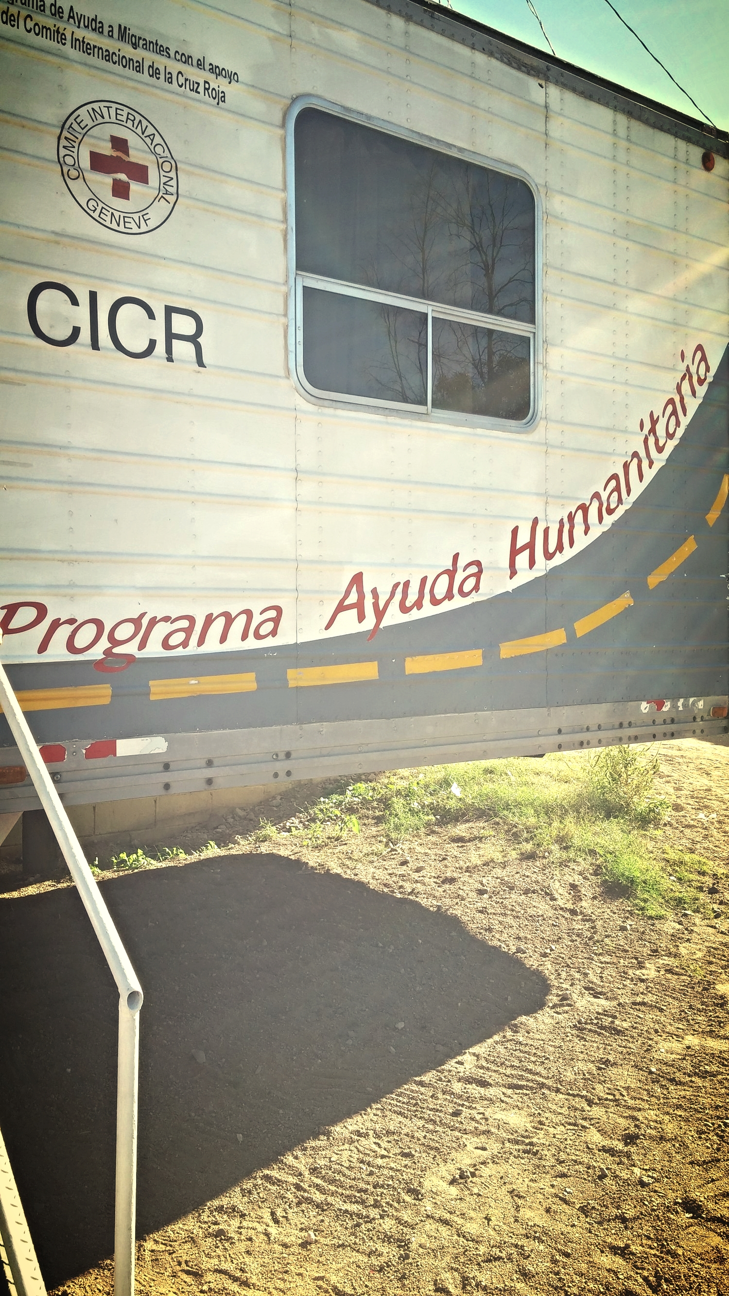 One of the mobile clinics run by the Mexican Red Cross.
