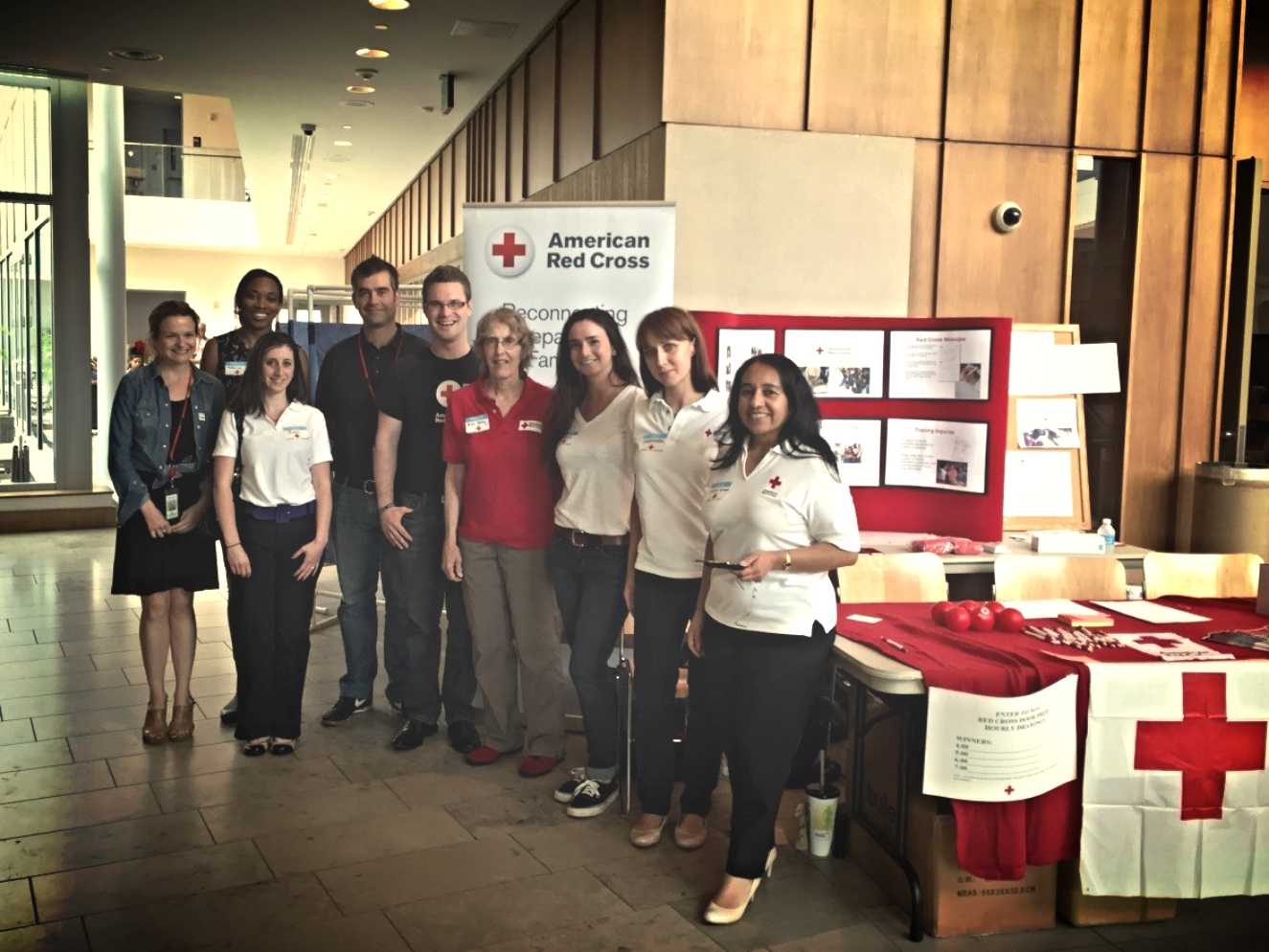 Red Cross volunteers and staff celebrate World Refugee Day in Silver Spring, MD