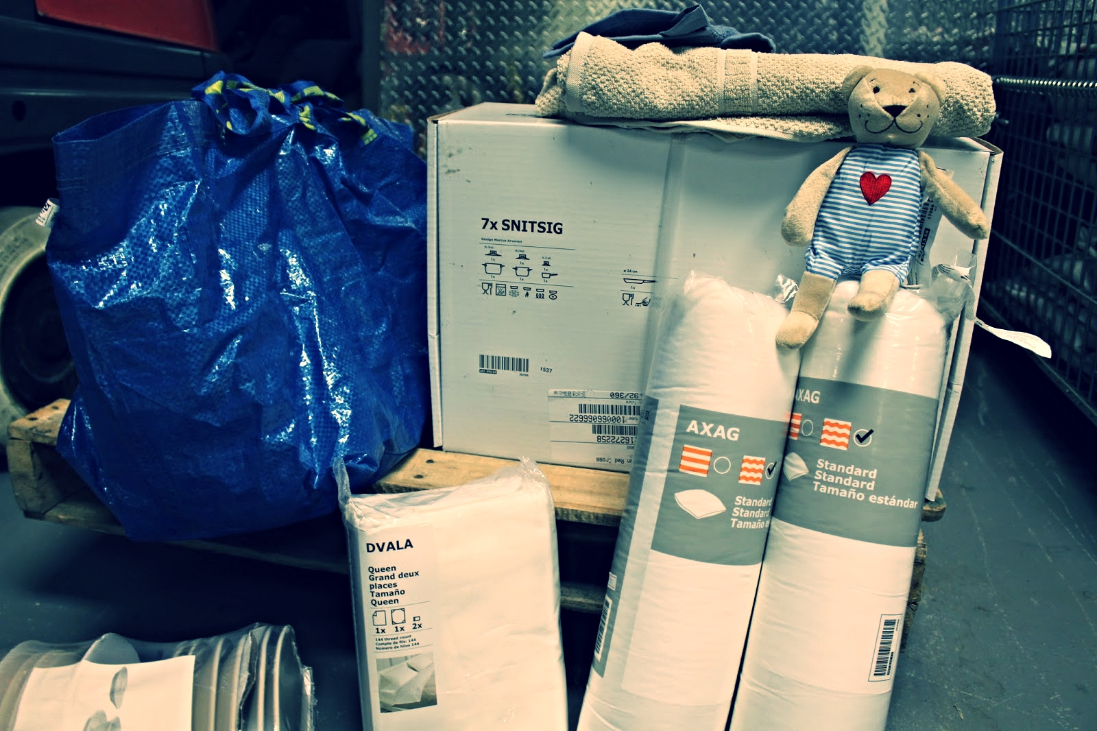Refugees arrive without the basics; the Red Cross is helping to provide necessities like sheets, pillows, towels - and teddy bears.