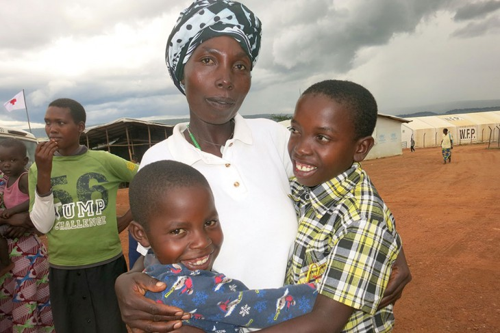 Ernest (right) in his mother's arms. Photo credit:  BY-NC-ND / ICRC / E. Nyandwi