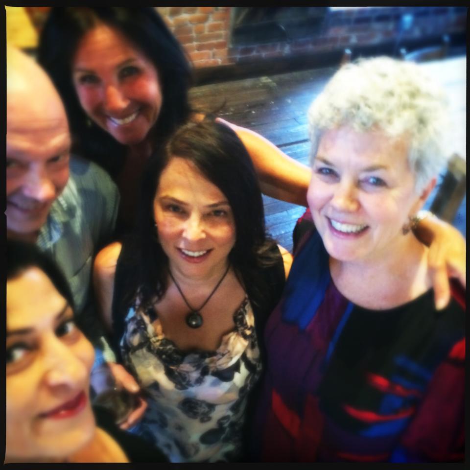 (From left to right: Armineh Hovanesian, Brett Chenoweth, Gina Costa, Jane Shultz and Meri Walker.