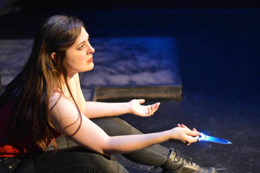 Stephanie Willis as Hamlet