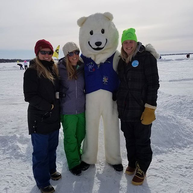 I had a ton of fun on the ice today! #detroitlakes #polarfestdl #weheartdl #iceteegolfdl