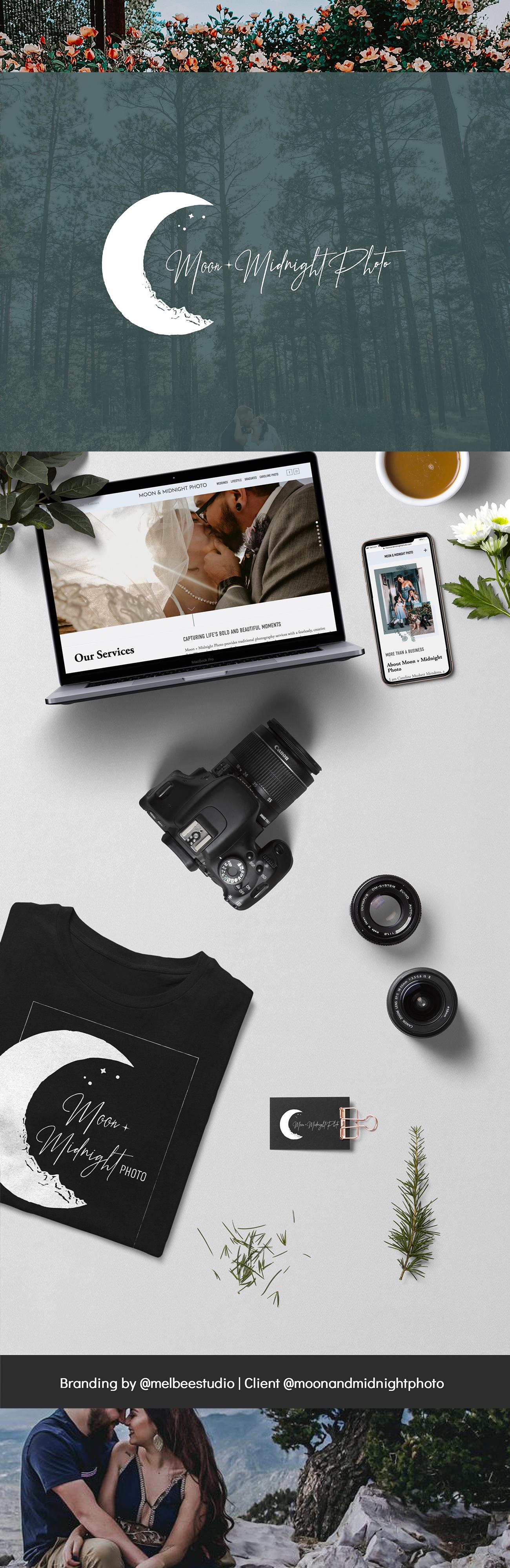 Photography brand design, photography branding, photography web design, photography logo design