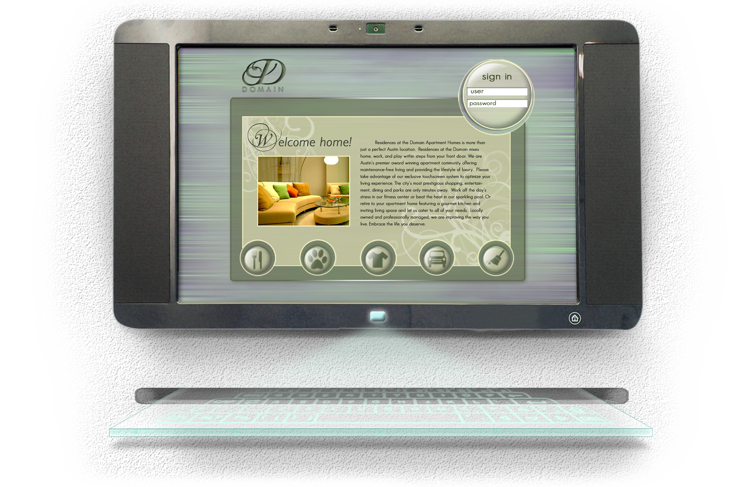 Domain Home Touchscreen System