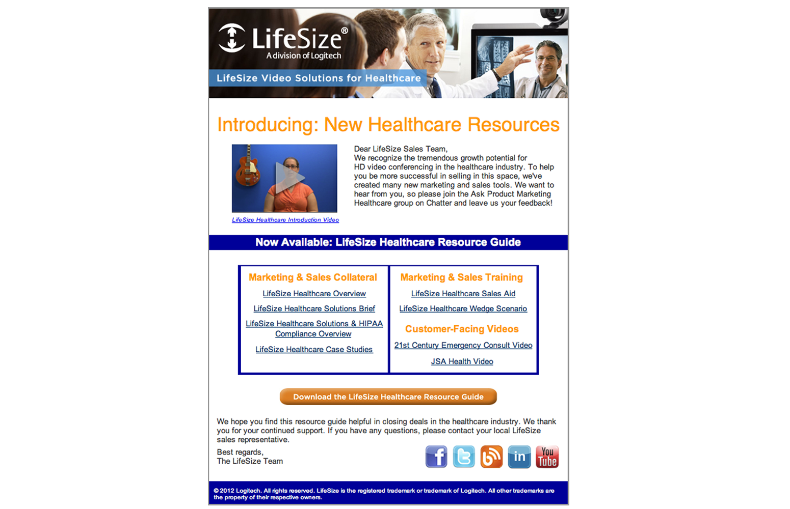 LifeSize Email Design Template