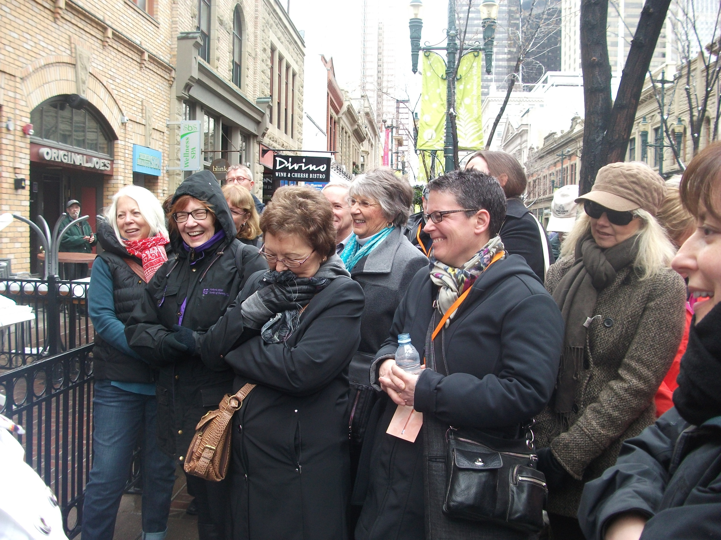 Myrna Kostash warms the crowd with her take on Laura Salverson's fierce Icelandic patriotism.