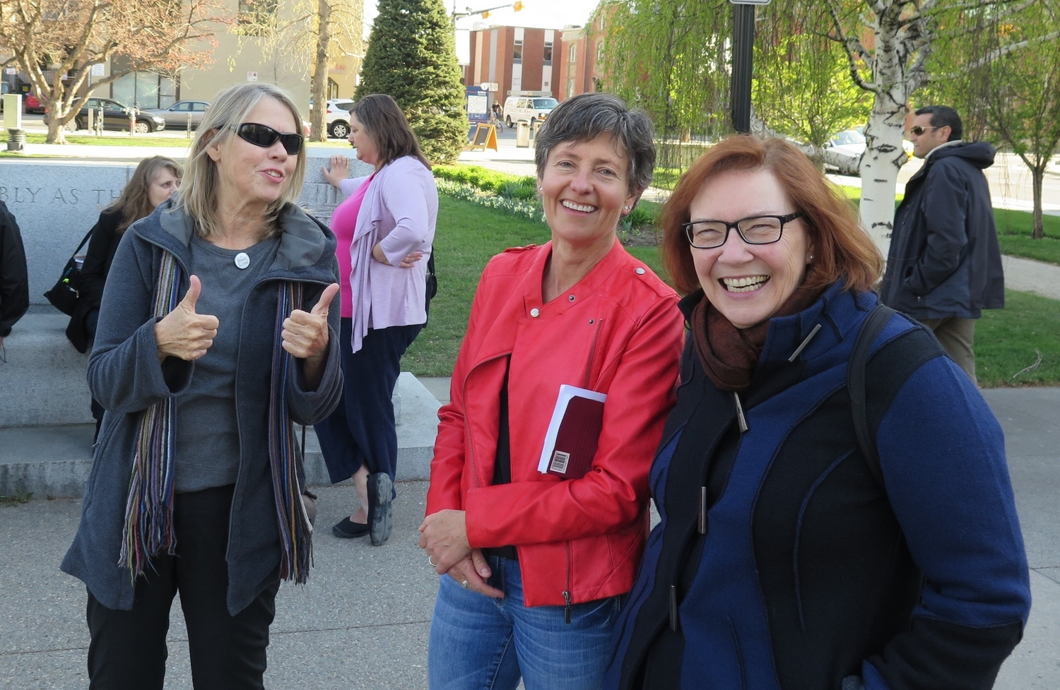 Calgary writers Joan Dixon, Barb Howard and Aritha van Herk