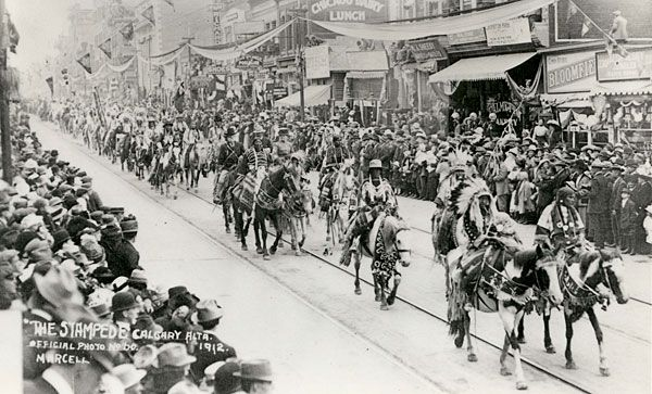 First Stampede Parade, 1912 (Photo: Milward Marcell, Calgary Stampede)