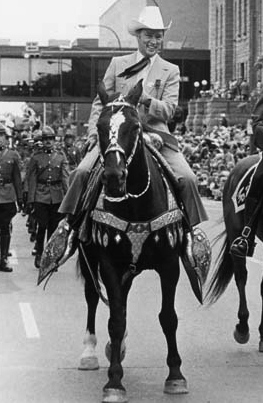 Pierre Trudeau rides in the Stampede Parade, 1978 (Photo: Calgary Herald)