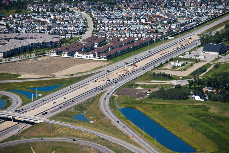 Northwest LRT extension, Rocky Ridge/Tuscany, 2012 (Photo: City of Calgary)