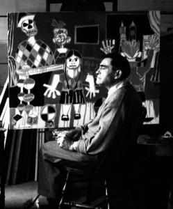Maxwell Bates in his studio (Photo: University of Victoria)