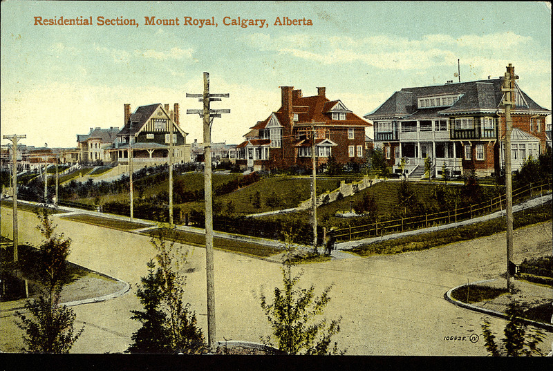 Calgary's Mount Royal, in the early 20th century (Photo: Peel Library, University of Alberta)