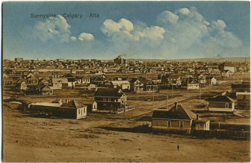 Cumulous clouds above Calgary's Sunnyside neighbourhood, circa 1912. What do you see?(Photo: Calgary Public Library)