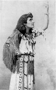 """Pauline Johnson's costume was an integral part of her """"Indian princess"""" stage persona. Her outfit remained largely the same over the course of her career. Johnson willed the costume to the Museum of Vancouver. (Photo:  Wikimedia Commons )"""