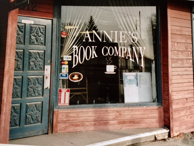 Annie Vigna (aka Wesko) ran her bookstore on 16th Avenue North between 1996 and 2007. The widening of the avenue in 2005 contributed to her decision to wrap up the business. Annie's Books lives on in the hand-crafted lectern at the  Alexandra Writers' Centre. (Photo: Annie Wesko)