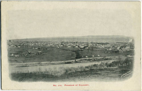 View of Calgary from Scotsman's Hill circa 1906 (Photo:  Calgary Public Library Postcards from the Past)