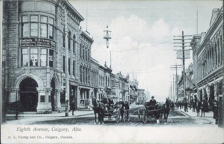 Stephen Ave in 1906 (Photo: Peel's Prairie Provinces)